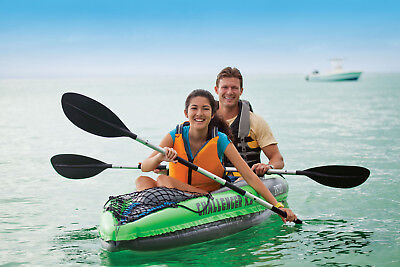 Inflatable Kayak Tandem Kayaks For Kids Teens Adults 2 Person With Paddles (Best Kayak For Kids)