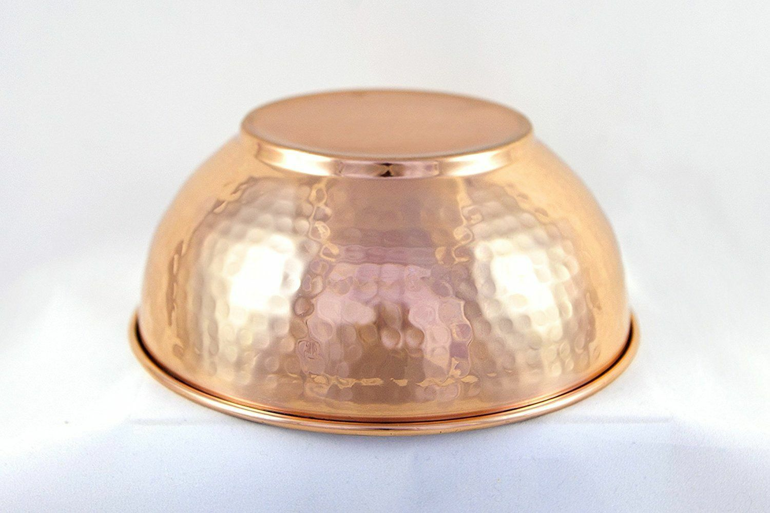 Indian Food Daal Steel Hammered Copper Dish Serving Handi Bowl 400 ML