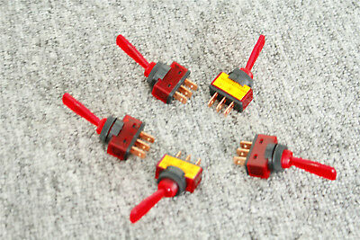 Toggle Switch Dc 12v 20a Onoff 5pcs 12mm Red Spst Thread Panel Mount