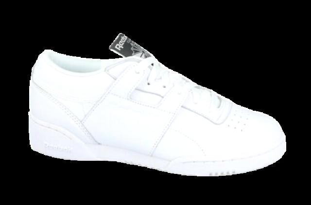 White Reebok Classic Sneakers for Men