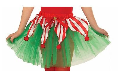 Candy Cane Tutu Christmas Child Costume Accessory, Green/Red/White