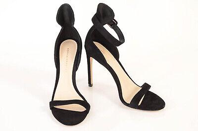 Sophia Webster Nicole black 7 37 suede stiletto ankle strap sandal shoe NEW $395