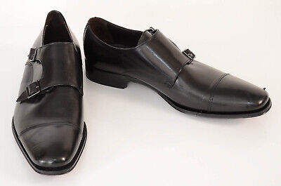 To Boot New York black 9.5 leather monk strap slip on loafer shoe NEW $395