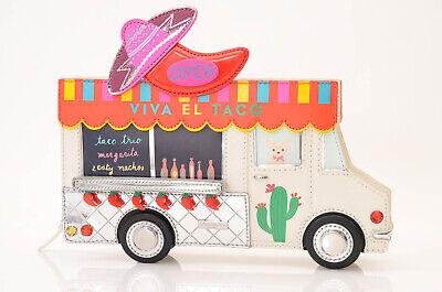 Kate Spade Viva El Taco white leather food truck shoulder handbag purse NEW $358