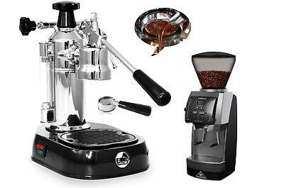 La Pavoni En Europiccola Espresso Machine Vario Grinder Naked Portafilter