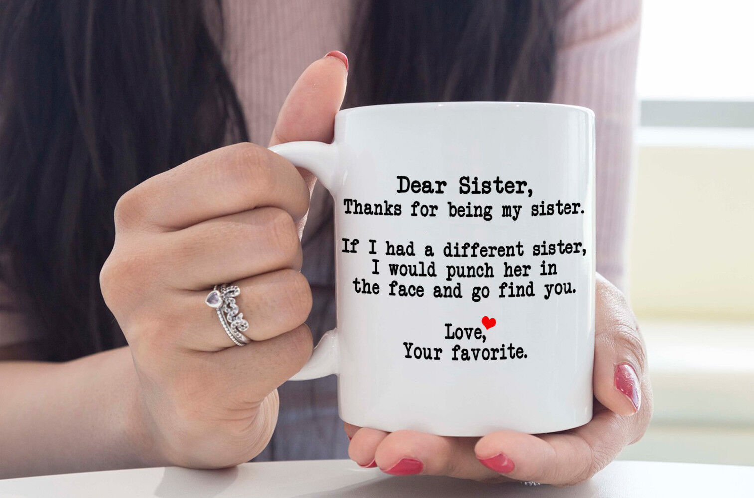 Dear Sister Thanks For Being My Sister Funny Birthday Gift For