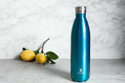Manna Vacuum Insulated Bottle Water Drink Safe Retro Stainless Steel 20 Oz -