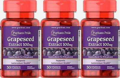 #1 BEST GRAPESEED EXTRACT 100MG HEART ANTIOXIDANT HEALTH SUPPLEMENT 150