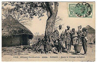 AFRIKA SENEGAL VILLAGE LIFE DORFLEBEN DAKAR AFRICA VINTAGE PC FORTIER 2205
