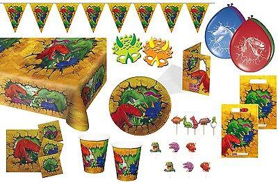 Dino Geburtstag Dinosaurier Party T-Rex Kindergeburtstag Deko Einladung