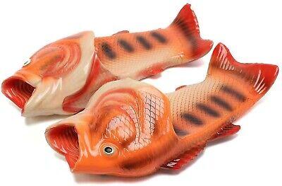 Unisex Fish Shower Slippers Sandals Flip Flops Men Women Soft Casual Beach -