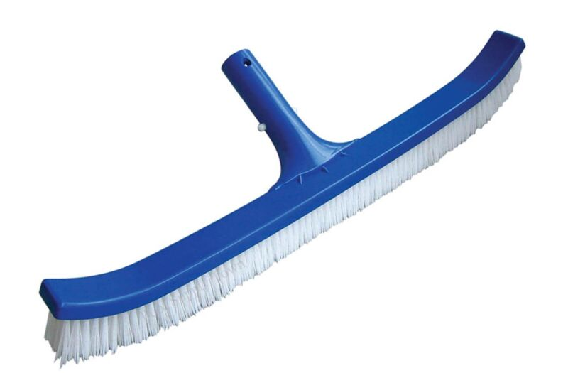 """18"""" Curved Pool Spa Wall & Floor Brush with Nylon Bristle & ABS Body Handle"""