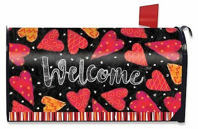 Valentine's Day Mailbox (Valentine Large Magnetic Mailbox Cover Hearts Valentine's Day)