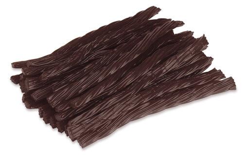 Happy Bites Chocolate Licorice Twists - Certified Kosher - 1 Pound Bag (16 oz)
