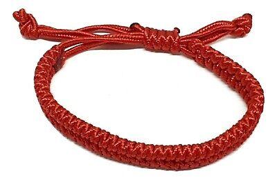 Glück Unisex Rot Chinesisch Armband Schutz Feng Shui Rot Verstellbar Slip Schnur (Chinesische Rote Schnur Armband)