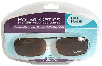 Solar SHIELD CLIP ON Sunglasses FULL FRAME 50 REC 15 W/ CASE FREE SHIPPING