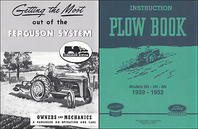 Ford 2n 8n 9n Tractor Plow And Implement Owner Manual Set Disc Harrow Cultivator