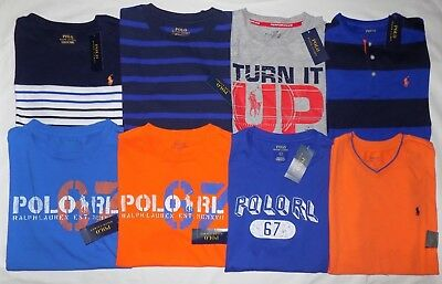 NWT POLO RALPH LAUREN BOYS' T-SHIRT, 100% COTTON, SHORT SLEEVE, SIZE: L (14-16)