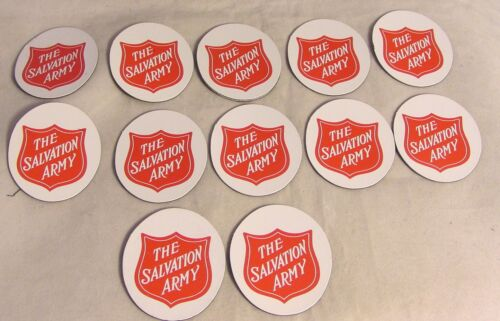 Salvation Army - 12 MAGNETIC RED SHIELD LOGOS