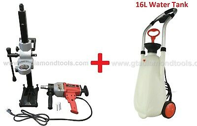 Diamond Core Drill Machine With Rig16l Water Tank Core Bit 110v- Free Shipping