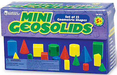 Learning Resources Mini GeoSolids Box of 32 - NEW