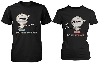 Cute Couple Shirts for Halloween - Mummy Love You Will Forever Be My - Being Black For Halloween