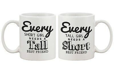 Matching Coffee Mugs for Best Friends - Tall and Short Best (Tall And Short Best Friends)