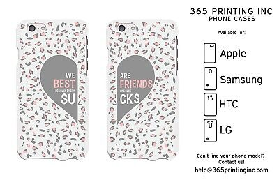 Leopard Print Best Friend White Phone Cases - iphone, Galaxy S, NOTE 4, M8,