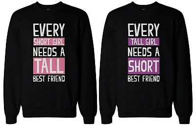 Cute BFF Gift BFF Sweaters - Tall and Short Best Friends Matching (Tall And Short Best Friends)