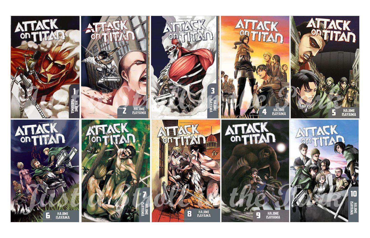 Attack on titan english manga anime graphic novel series complete book 1 10 set