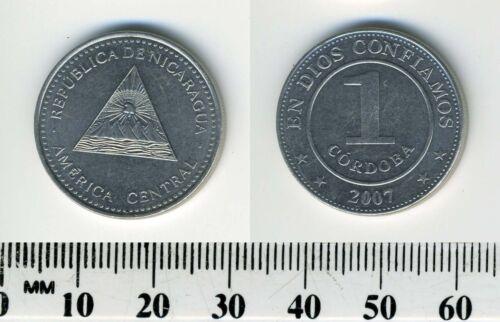 Nicaragua 1 Cordoba, 2007 Nickel Clad Steel Coin