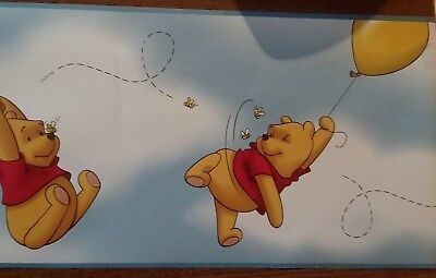 "Winnie the Pooh Wallpaper Border 10' X 7"" - Prepasted"
