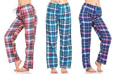 Womens Flannel Pajama Pants, Long Novelty Cotton Pj -