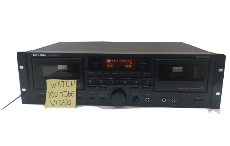 Tascam 202 MK III Dual Cassette Deck Player Recorder (READ DESCRIPTION)