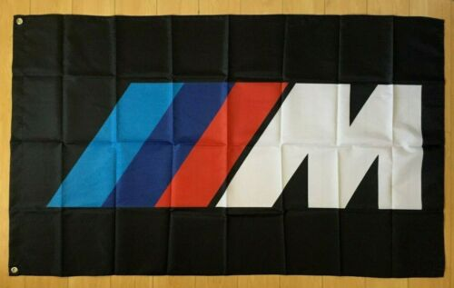 BMW M Power Logo 3x5 ft Flag Banner M3 M4 M5 X5 X6 Series Coupe