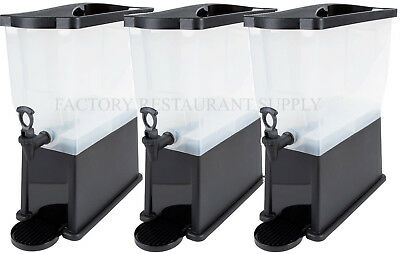 3 PACK Black 3 Gallon Plastic Iced Tea Punch Juice Beverage Drink - Tea Dispenser