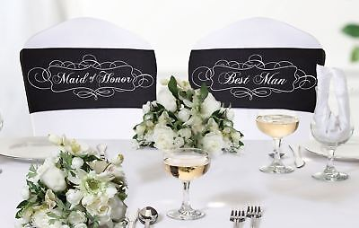 Chair Sash Set Maid of Honor And Best