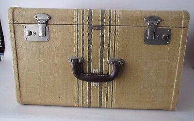 VTG Worn MENDEL CINCINNATI Stripe Luggage Suitcase LARGE 18.5 x 11.5 x 14.5 MWH