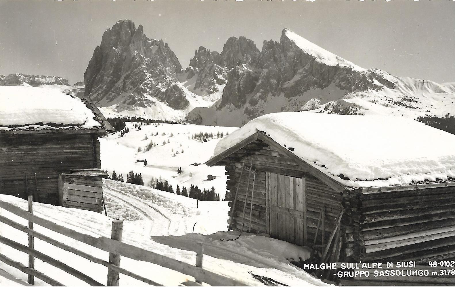 Malghe sull'Alpe di Siusi (Bolzano) f.p.