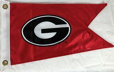 "Georgia Burgee Boat Flag 12X18"" NEW Collegiate UGA Bulldogs golf cart US made"