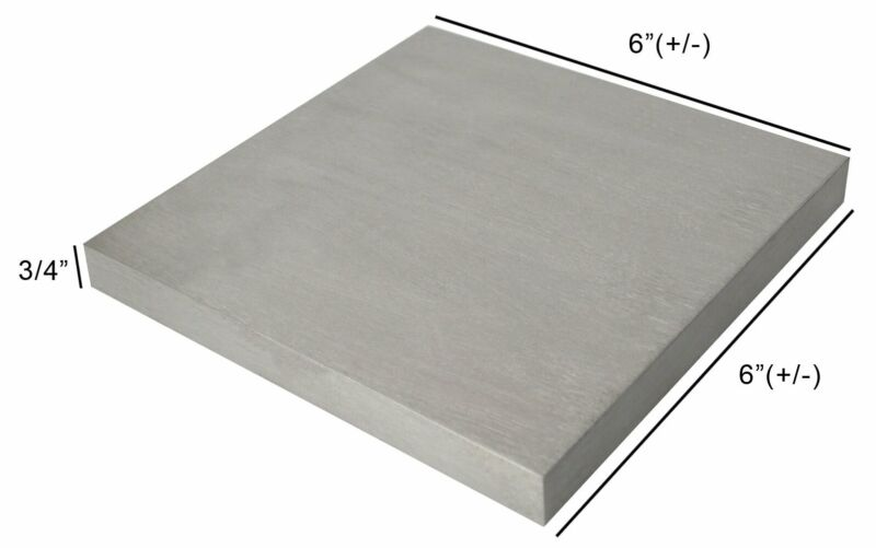 "STEEL 6"" (+/-) SQUARE 3/4"" THICK BENCH STEEL BLOCK HARDENED METAL WORKING ANVIL"