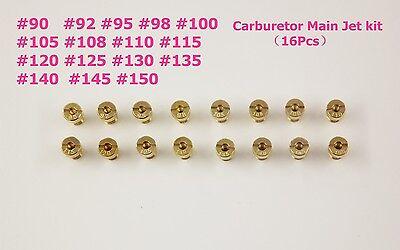 16pcs Carburetor Main Jet kit for PWK OKO CVK 90 92 95 98 115……140 150