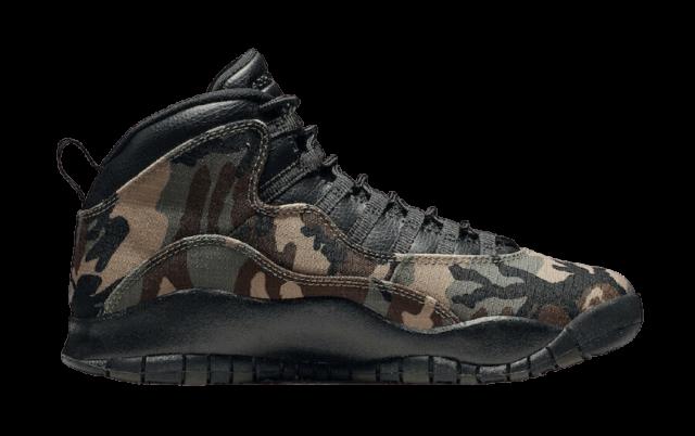 Air Jordan 10 camo Sneakers
