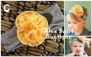 *Top Baby Flower Headband* Infant Toddler Girl Cotton Headband x 1