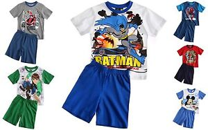 BOYS-BEN-10-MICKEY-MOUSE-SPIDERMAN-GORMITI-SHORT-PYJAMAS-PJS-3-4-5-6-7-8-9-10