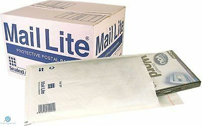 100 C0 C/0 White 150 x 210 mm Padded Bubble Wrap Mail Lite Postal Bag Envelopes
