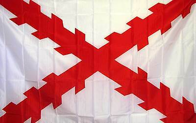 Spanish Ensign Burgundy Cross Flag 3'X5' Inquisition Banner 90CM X 150CM