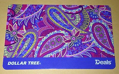 Dollar Tree Gift Card  Paisleys Purple  No Value New Collectible