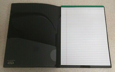 1 Pocket Padfolio Letter Size Black Legal Pad Holder By Sparco - Brand New