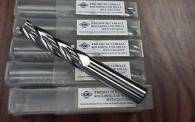 12x2 M42 Cobalt Roughing End Mills Long Size 10pcs 1002-co-12l Free Ship-new